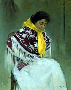 Ramón Casas i Carbó - El pañuelo amarillo 1899 Más