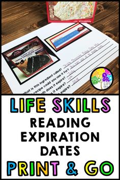 Help your students learn to practice reading expiration dates on food items. Excellent for life skills Help your students learn to practice reading expiration dates on food items. Excellent for life skills instruction in the classroom. Life Skills Lessons, Life Skills Activities, Life Skills Classroom, Teaching Life Skills, Special Education Classroom, Teaching Tools, Student Learning, Life Skills Kids, Reading Skills