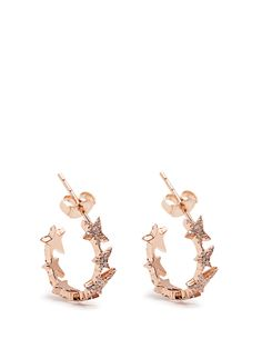 Diamond & rose-gold Star Line earrings | Diane Kordas | MATCHESFASHION.COM