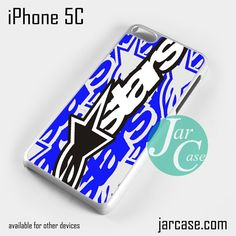 Blue Alpine Star Cool Phone case for iPhone 5C and other iPhone devices