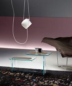 Scopri Tavolino Paesaggi Side -/ 2 piani, Trasparente di FIAM, Made In Design Italia