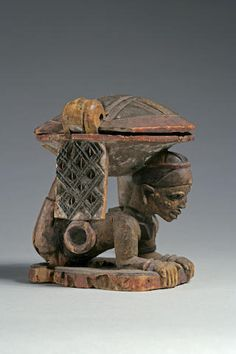 A Yoruba divination bowl Cultural Identity, Ocean Art, Ivory Coast, Ancient Artifacts, West Africa, Tribal Art, African Art, Wood Carving, Art History