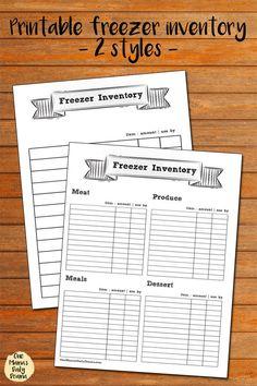 kitchen inventory printables organizing pinterest pantry