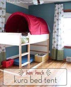 More Like Home: Ikea Hack - Kura Bed Tent Makeover