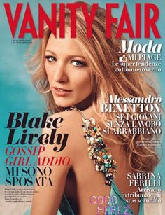 Blake Lively graces the cover of Vanity Fair Italy's October 2012 issue.