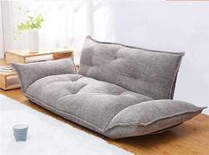 Cozy Living Room Decorations With Floor Seating Floor Couch, Sofa Couch Bed, Floor Pillows, Bedroom Couch, Bedroom Seating, Bedroom Wall, Bedroom Ideas, Living Room Sofa, Living Room Furniture