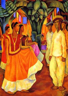 Dance In Tehuantepec, Diego Rivera