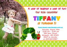 Very Hungry Caterpillar Birthday Party by FantasticInvitation, $8.99