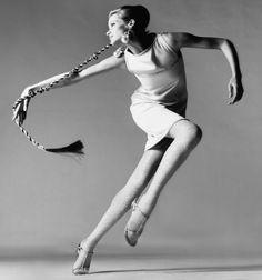 1967, New York. Model Veruschka (Vera Gräfin von Lehndorff-Steinort). Dress by Bill Blass. Photo by Richard Avedon (B1923 - D2004 )