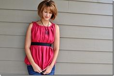 Pleated Neckline Top Tutorial