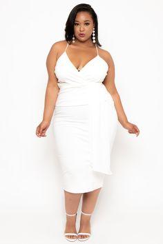 acb8d58ecf2 Plus Size Cami Strap Bianca Dress - Ivory