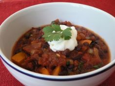 Black Bean Chipotle Chili - Fiona Haynes