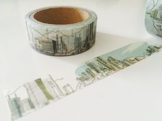 Cityscape Washi Tape by GoatGirlMH on Etsy