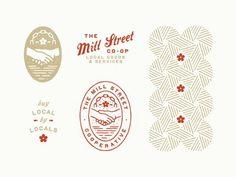Vintage Graphic Design Mill Street - View on Dribbble Typography Logo, Logo Branding, Typography Design, Logo Inspiration, Creative Inspiration, Badges, Great Logos, Badge Design, Packaging