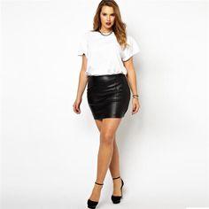 BignTrendy Slim Fit Mini Skirt with Zipper