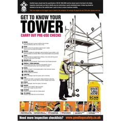 Good to Go Safety Inspection Checklist and Tagging Posters Construction Contract, Construction Worker, Scaffolding Safety, Safety Checklist, Safety Inspection, Safety Posters, Safety First, Getting To Know You, Health And Safety