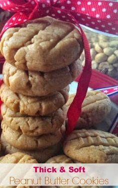 Enjoy these freshly baked Delicious Thick Soft 'Ultimate' Peanut Butter Cookies…