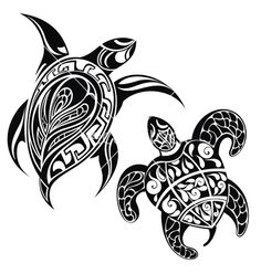 Illustration of Underwater turtle in tribal style for tattoo or mascot design vector art, clipart and stock vectors. Turtle Silhouette, Silhouette Images, Silhouette Vector, Silhouette Cameo, Tribal Turtle Tattoos, Turtle Tattoo Designs, Polynesian Art, Polynesian Tattoos, Filipino Tattoos
