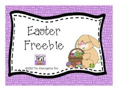 "I hope you enjoy this little Easter Freebie! Get your April 2013 calendar, Easter-themed Word Wall cards, ""Find the Jellybeans"" game and an Easter. Easter Activities, Class Activities, Spring Activities, Daily 5 Centers, Pre K Lesson Plans, Easter Crafts, Easter Ideas, Spring Words, Spring School"