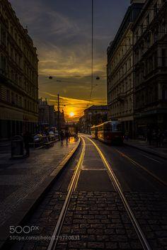 "Praha Golden Prague - shining bright. Share with us your beautiful light.  Part of my series ""PRAHA"".   http://ift.tt/1LdunKs"