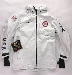Nike White Regular Size Clothing for Men for sale Olympic Medals, Olympic Team, Teen Fashion Outfits, Men's Fashion, Nike Hoodie, Team Usa, Winter Olympics, Gore Tex, Recipes