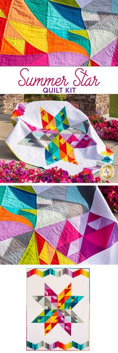 """All Skill Levels 34½/"""" x 34½/"""" New Dimensional Pieced Wall Quilt Pattern"""