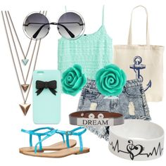 Summer Days, Drifting Away by sophielillian on Polyvore featuring polyvore, fashion, style, H&M, MIA, Tri-coastal Design, Panacea, Bling Jewelry and Good Work(s)
