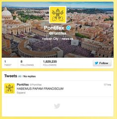 Our new Popes first tweet?