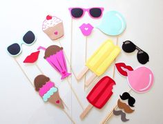 15pc Ice Cream Shoppe Photo Booth Props/Ice by ThePartyGirlStudio