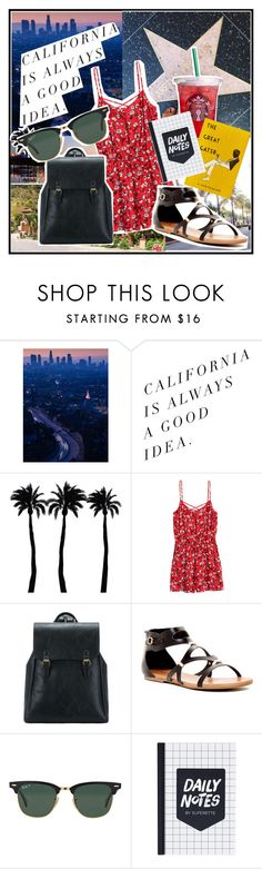 """California is Always a Good Idea"" by alejandraf101 ❤ liked on Polyvore featuring Dot & Bo, H&M, Rock & Candy and Ray-Ban"