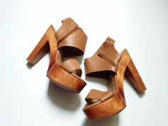 Chunky Wooden Heels