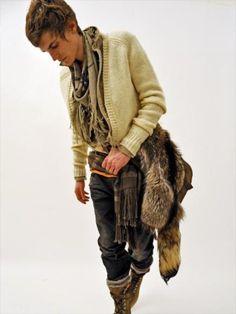 Mori Boy style.  A fashion from Japan