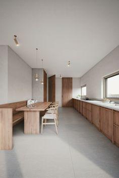 Home Interior White .Home Interior White Minimalist Furniture, Minimalist Interior, Interior Modern, Interior Ideas, Farmhouse Style Kitchen, Modern Farmhouse Kitchens, Cuisines Design, Minimalist Kitchen, Interior Design Kitchen