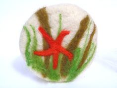 Felted soap with starfish and seaweed by OystercatcherYarns on Etsy