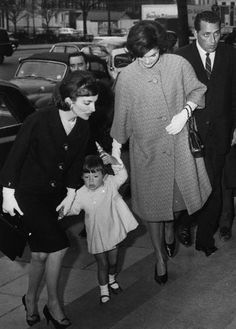 Jackie Kennedy with Lee Raziwill and Her Son Anthony, age 2 1/2. London, March 28, 1962.  Anthony was John Jr.'s best man at his wedding.  Anthony died just 3 weeks after John Jr.'s death.