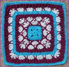 "Beauty In Excellence 9""/12"" Afghan Block Square"