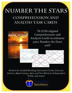 Number the Stars Task Cards!