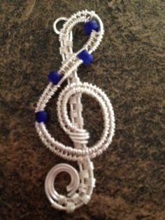Lu Mae Jewelry Designs: Wire Wrapped Silver Music Note Pendent