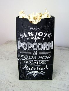 Popcorn Bag by Kin Ship Press ❤