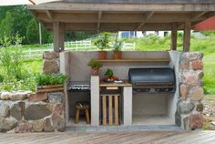 Most current Images Outdoor Kitchen muurikka Ideas For many individuals, an outd… Diy Bbq Area, Indoor Garden, Outdoor Gardens, Feng Shui Garden Design, Modular Outdoor Kitchens, Barbecue, Bbq Grill, Grill Gazebo, Vegetable Garden Design