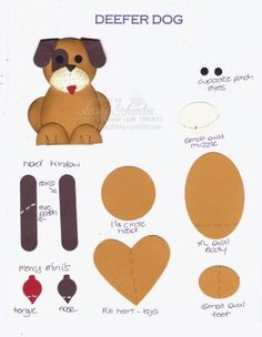 Great punch art puppy for your pet crafts.