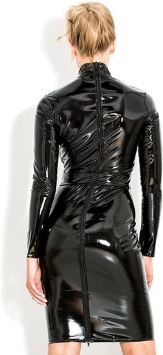 Mode Latex, Vinyl Clothing, Vinyl Dress, Latex Dress, Latex Wear, Nylons, Leather High Heel Boots, Leather Dresses, Womens Clothing Stores