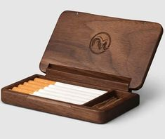 Black walnut Wooden Cigarette Case