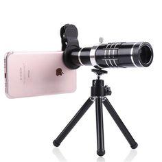 Universal 18X Zoom Mobile Phone Lens Telephoto Camera Lenses With Mini Tripod Telescope for iPhone 7 Samsung