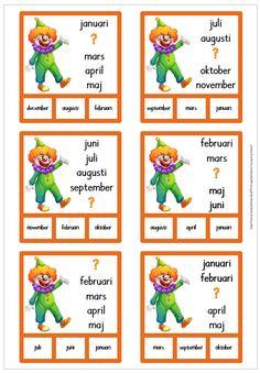 12 nypkort att träna månadernas ordning April April, Learn Swedish, Irregular Verbs, Arabic Love Quotes, Juni, Best Teacher, Preschool, Language, Classroom