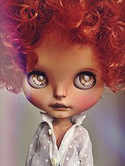 Blythe doll Me when my hair is curly.