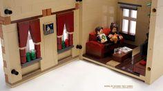 Striped Townhouse LEGO MOC by szu_85, via Flickr