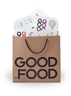 Good Food brand identity and packaging design by Face Agency.  #Minimalist #Typography #Packaging #Design