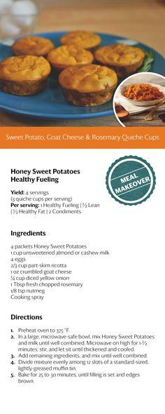 Sweet Potato, Goat Cheese & Rosemary Quiche Cups....OMG! #OPTAVIA30 #choosehealthalways