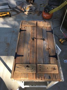 Laundry rm opening doors - Lilly is Love Woodworking Plans, Woodworking Projects, Wooden Gates, Wooden Doors, Rustic Doors, Old Doors, Barn Wood, Barn Tin, Wood Pallets
